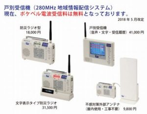ポケベル波の活用ラジオ機能付戸別受信機(防災ラジオ)に注目!|避難情報の受信機に最適